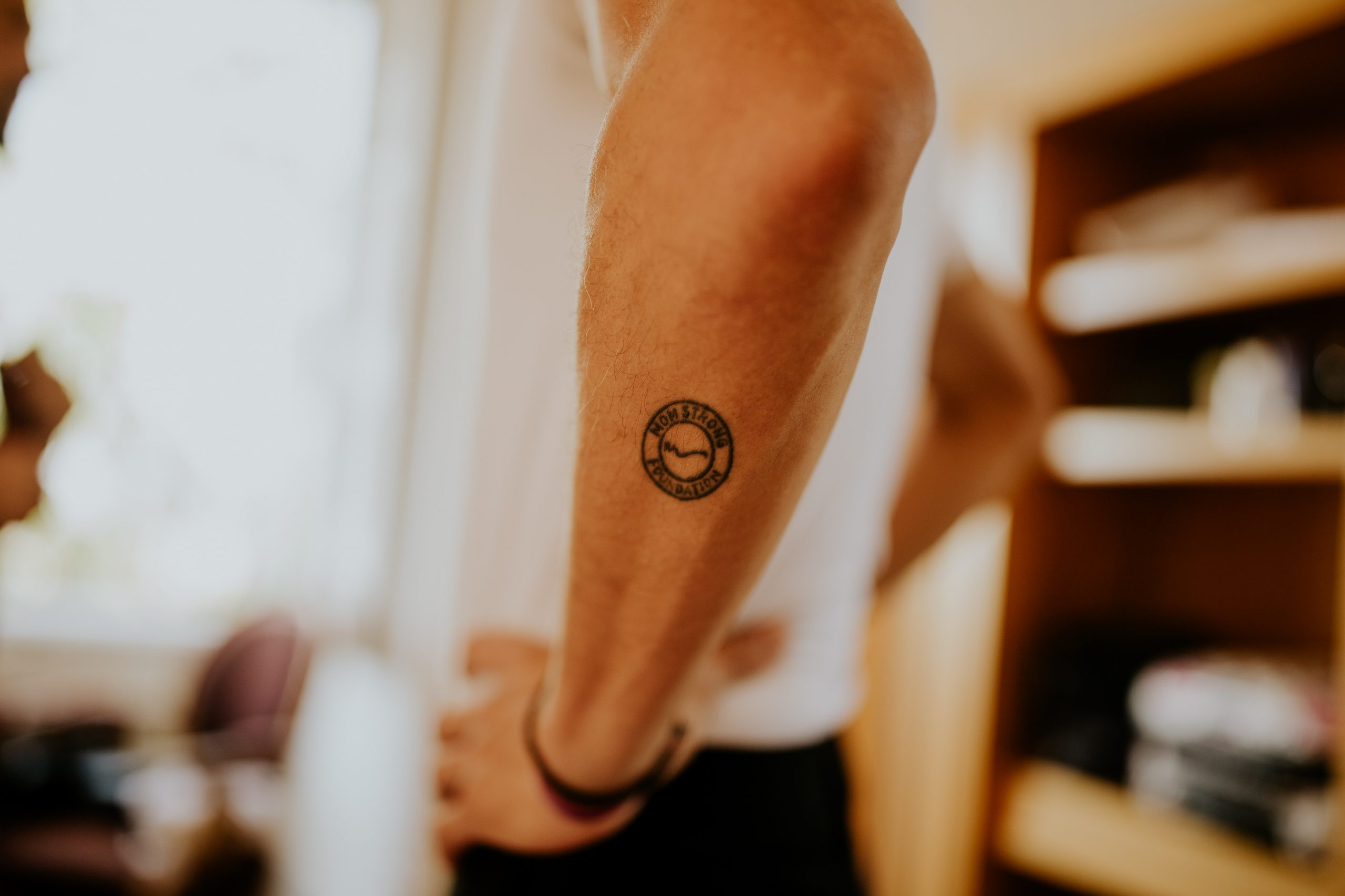 man arm tattoo detail