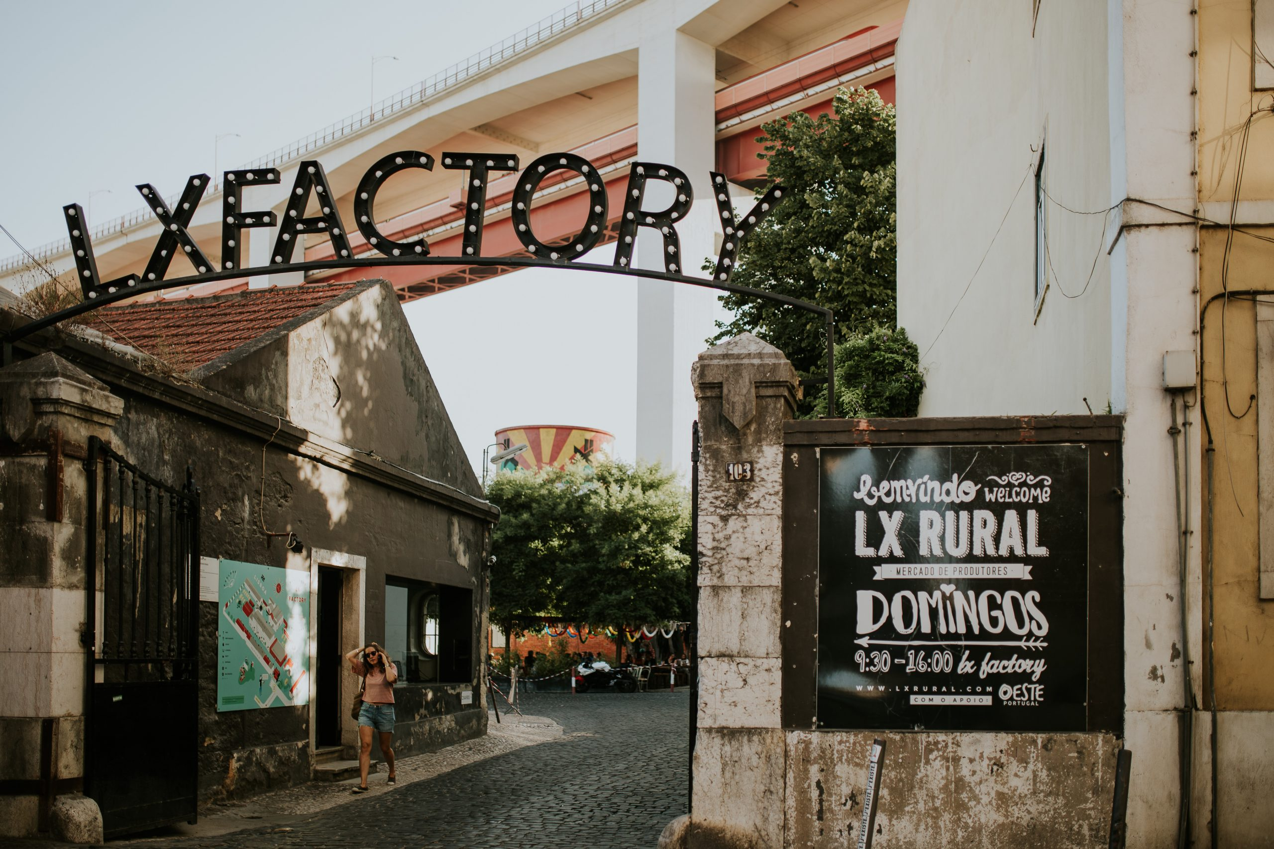 entrance of lx factory in lisbon