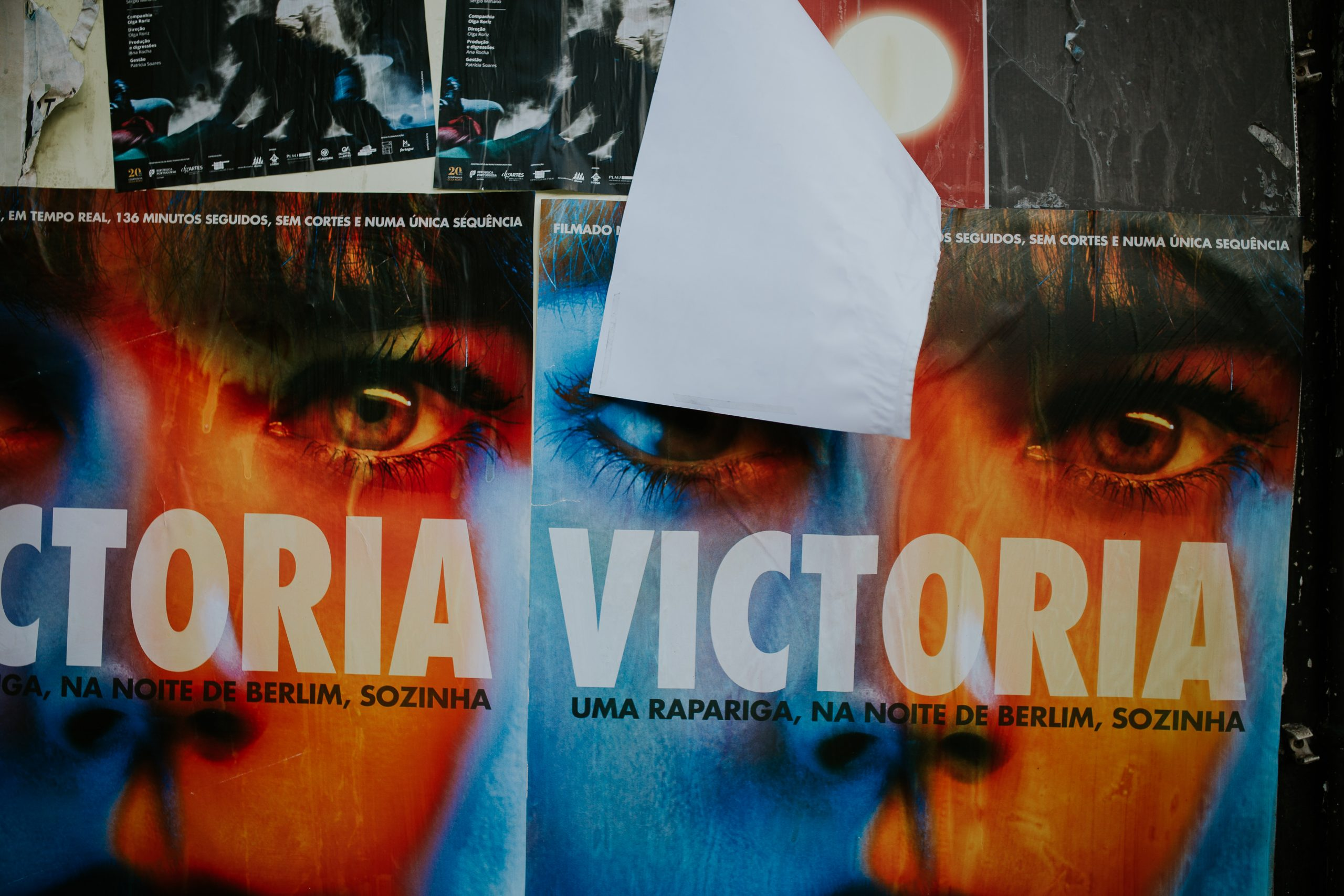 victoria, poster of a movie pre weeding session in lisbon lx factory